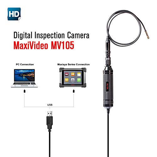 Autel MaxiVideo MV105 Inspection Video Scope for cars Digital CCTV Camera (MV105) from Autel
