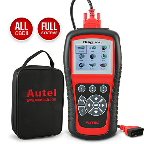 Autel OBD2 Reader Diaglink, DIY Version of MD802 All System Diagnostic Tool for All Electronic Modules (Engine, Gearbox, ABS(under Scan), Airbag, and More), EPB, Oil Service Reset from Autel