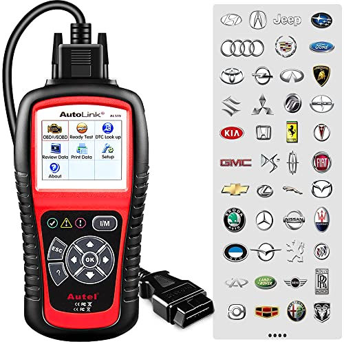 Autel AutoLink AL519 OBD2 Scanner,Code Reader Car Diagnostic Tool with Enhanced OBDII Mode 6 from Autel