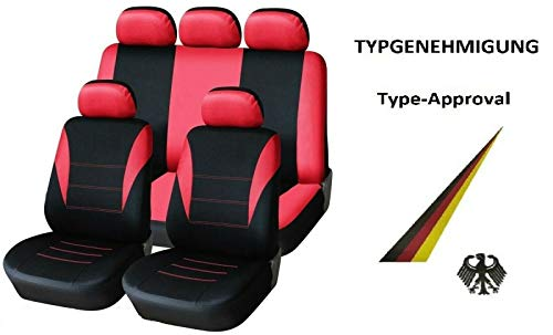 SEAT IBIZA ST 10-ON HEAVY DUTY WATERPROOF RED SINGLE CAR SEAT COVER