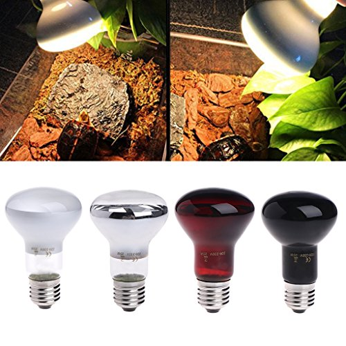 Autone E27 25/50/75/100W Day Night Reptile Amphibian Bird Snake Heat Lamp Infrared Emitted Bulb Light (Red, 25W) from Autone