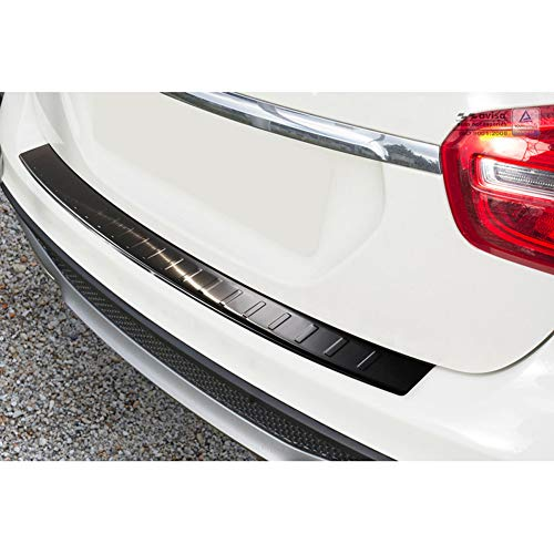 AUTOSTYLE 2/45026 Black Stainless Steel Rear Bumper Protector Mercedes GLA 2013-'Ribs from AUTOSTYLE