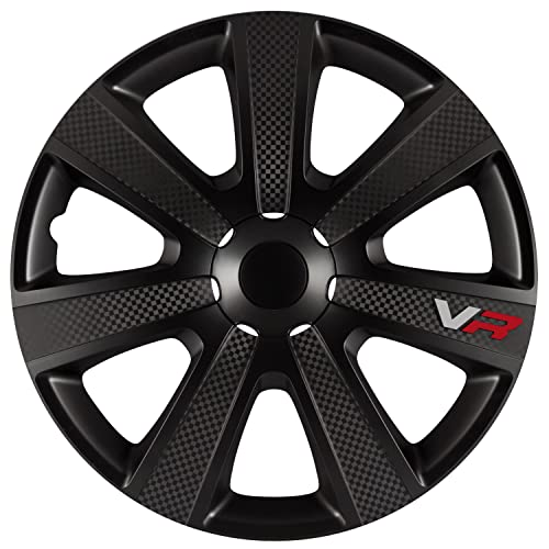 AutoStyle Set wheel covers VR 16-inch black/carbon-look/logo from Autostyle