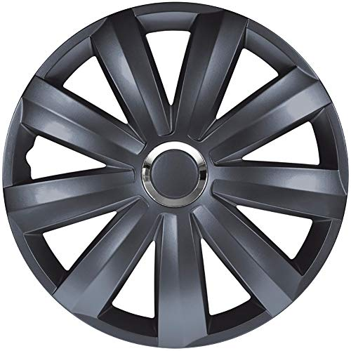 Set wheel covers Venture Pro 15-inch grey + chrome ring (Nylon) from AUTOSTYLE