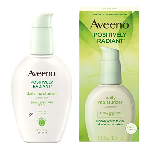 Aveeno Positively Radiant Daily Moisturizer 4oz Spf#15 from Aveeno