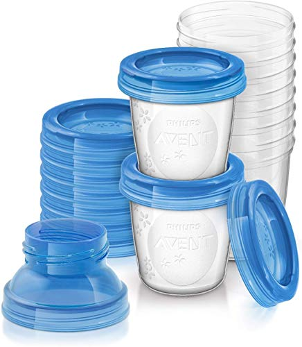 Philips Avent Reusable Breast Milk Storage Cups (10 x 180 ml) from Philips