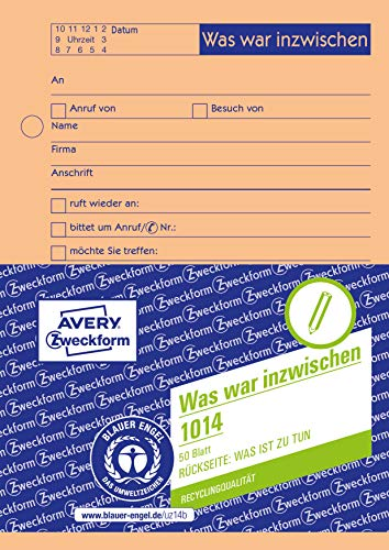Avery Dennison Zweckform 1014 Call Notebook Interview Notes orange from Avery Dennison Zweckform
