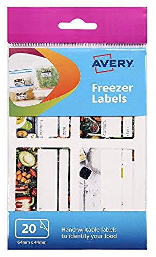 Avery 60-126 Self-Adhesive Freezer Labels, Hand Write Only, 44 x 64 mm, 4 Labels Per Sheet from AVERY