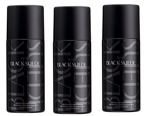 3 x Avon Men's Fragranced Deodorant Body Spray Available in Black Suede Wilderness Full Speed (Black Suede) from Avon