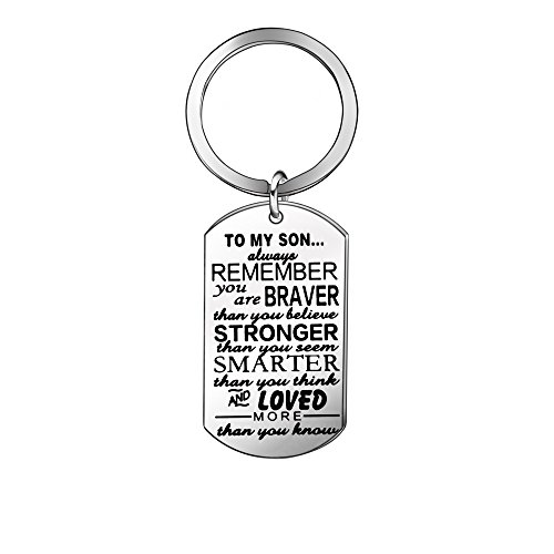 Inspirational Key Rings Keyrings Keychains Birthday Gift Present for Son Children Family Jewellery from Awyuan