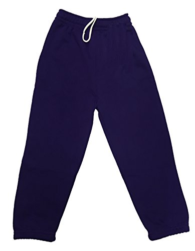 Ayra: Boys Girls Childrens Kids School PE Fleece Jogging Tracksuit Bottoms Trousers (11/12 Years, Purple) from Ayra