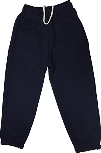 Ayra Boys Girls Childrens Kids School PE Fleece Jogging Tracksuit Bottoms Trousers (7/8 Years, Navy) from Ayra