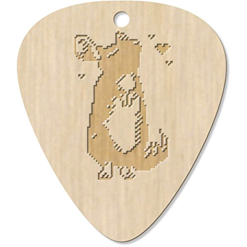 Azeeda 7 x 'Pixel Chinchilla' Guitar Picks / Pendants (GP00004082) from Azeeda