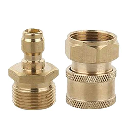 B Blesiya 2pcs Quick Release Connectors M22 Male & M22 Female Set Fits for Garden Hoses and Pressure Washer from B Blesiya