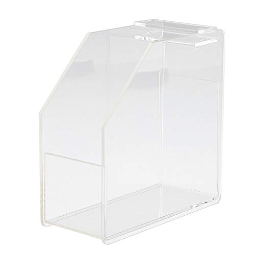 ACRYLIC NAIL FORM DISPENSER - NAIL EXTENSION GUIDE FORMS STORAGE CONTAINER - Clear, 12 x 12 x 5cm from B Blesiya