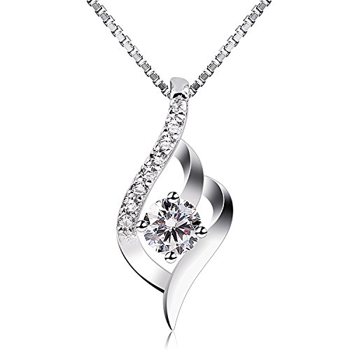 "B.Catcher Sterling Silver Necklaces Birthday Gifts for Women Pendant Necklace, 18"" from B.Catcher"