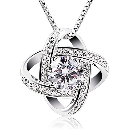 B.Catcher Women Necklaces Sterling Silver Cubic Zirconia Pendant Gemini Necklace from B.Catcher