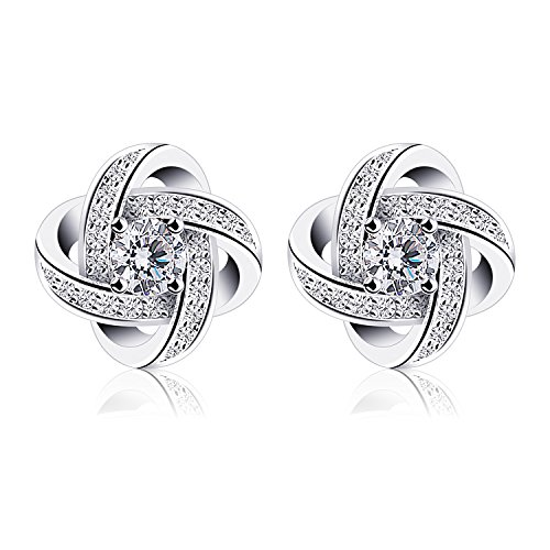 B.Catcher Women Earrings Studs Sterling Silver Cubic Zirconia Gemini Earring Sets from B.Catcher