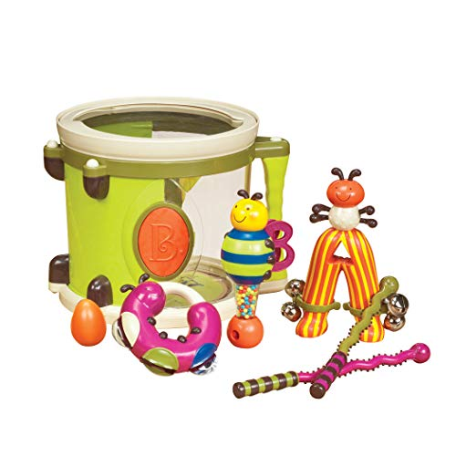 B. Toys – Parum Pum – Toy Drum Kit with 7 Musical Instruments for Kids 18 Months + (7-pcs) ,Multi-colour,BX1883C1Z from B. Toys