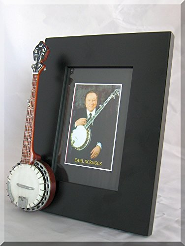 EARL SCRUGGS Miniature Banjo Photo Frame from BABY GUITAR