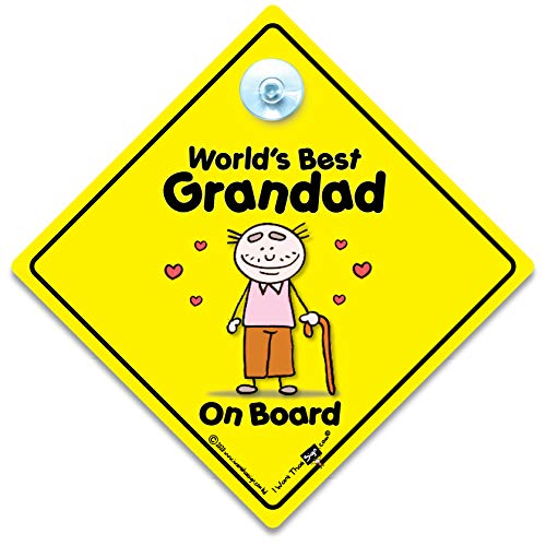 World's Best Grandad On Board, World's Best Grandad, Baby on Board, Decal, Bumper Sticker, Car Sign, Grandchild Sign, Grandparents Car Sign, Baby Sign, Baby Car Sign, Baby Signs, Grandad, Pops, Nanny, Grandparent from BABY iwantthatsign.com