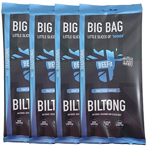 Beefit Truly Traditional Steak Biltong Beef Snack Bags, 1KG from BEEFit