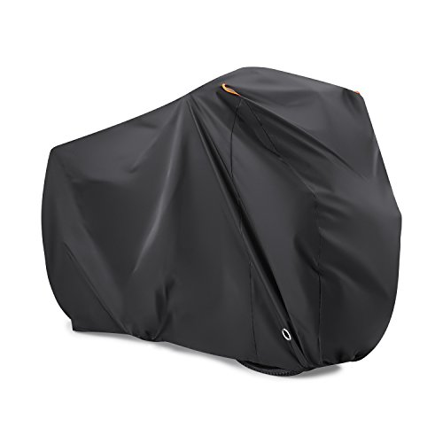Bike Cover for 2 Bikes, Beeway® 190T Nylon Waterproof Bicycle Cover Anti Dust Rain UV Protection for Mountain Bike/Road Bike with Lock-holes Storage Bag from BEEWAY