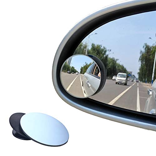Blind Spot Mirrors, Beeway® Round Frameless 360° Rotate Sway Adjustable HD Glass Convex Mirror Maximize RearView Universal for Car SUV Trucks Traffic Safety - Pack 2 from BEEWAY