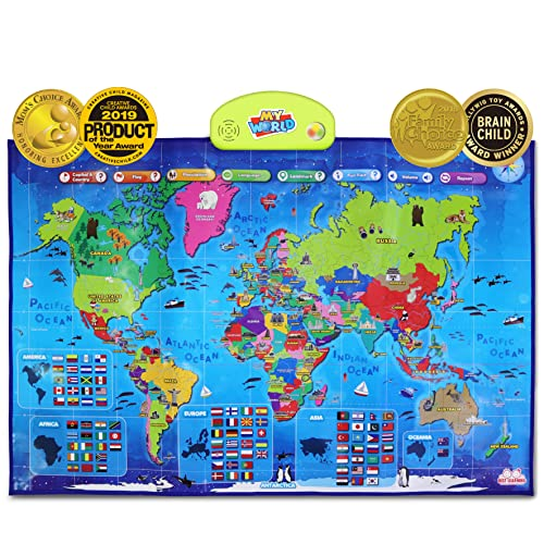 BEST LEARNING i-Poster My World Interactive Map - Educational Talking Toy for Boys and Girls Ages 5 to 12 Years Old - Ideal Gift for Kids from BEST LEARNING