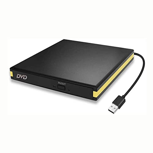 USB 3.0 External DVD Drive, Portable USB CD DVD Drive Player External CD Burner Reader Writer Disk Drive for Laptop Desktop MacBook Mac OS Windows 10 8 7 XP Vista from BEVA