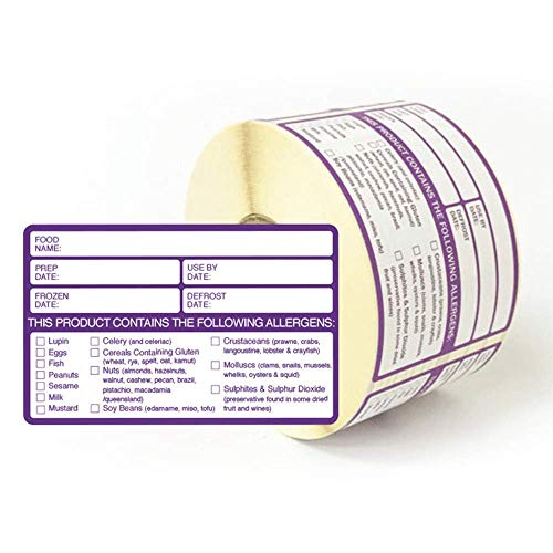 Food Allergy Labels Pack of 500 from BHMA Limited