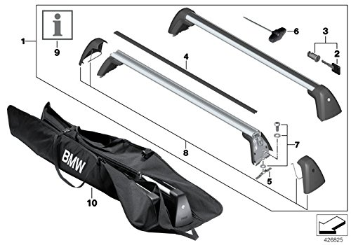 BMW Genuine Roof Rack Carrier Gutter Protector GEN2 1 2 3 4 7 Series 82792406019 from BMW