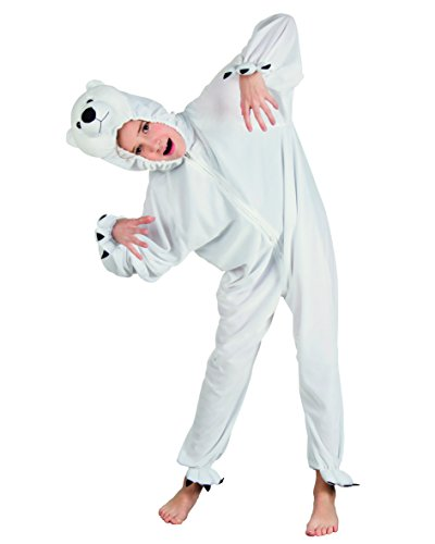Boland 10103460 Polar Bear Plush Suit Costume, White, max 1,40 m from Boland