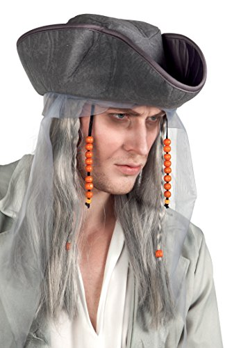 Boland 85726 Adult Ghost Pirate Wig with Hat, Wigs and Hairpieces from Boland
