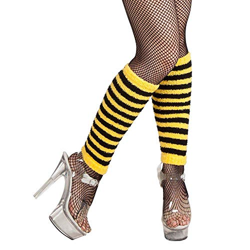 Boland 01718 – Polka Dots For Leg Warmers Fancy Dress Bee, Yellow/Black, One Size from Boland