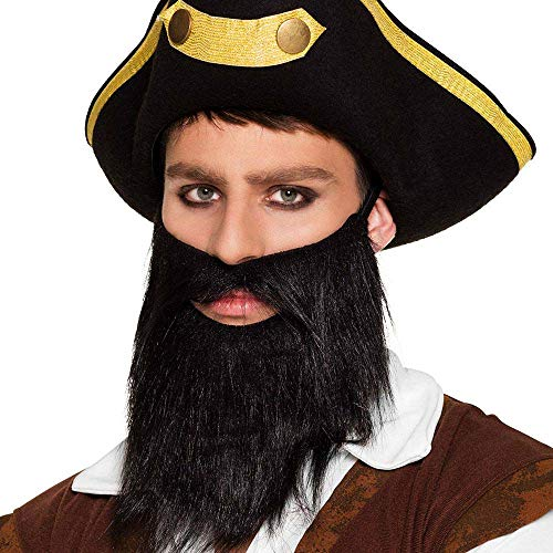 Boland 10116623 BOL01840 01840 Pirate Beard, Costume, One Size, Black from Boland