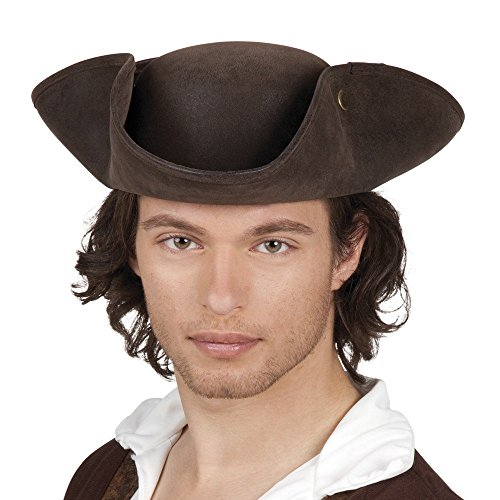 Boland 04350 – Noble Charles Brown Faux Leather Pirate Hat. from Boland