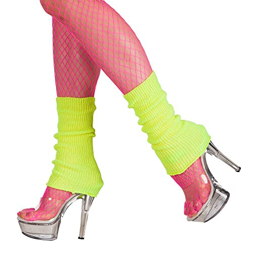Boland 1752 Leg Warmers Adult Neon Yellow, One Size from Boland