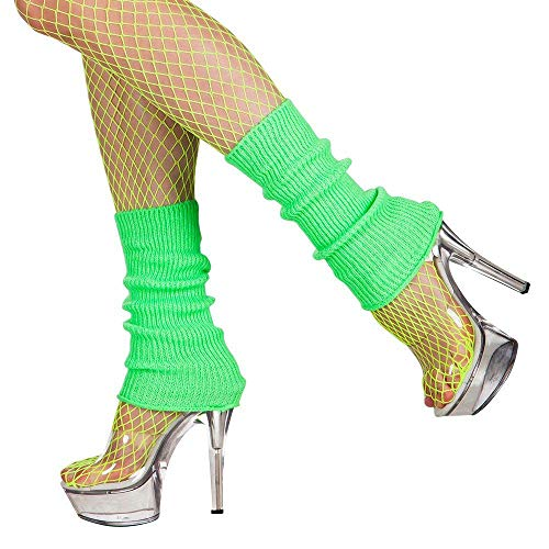 Boland 01753 Leg Warmers, Adult, Neon Green, One Size from Boland
