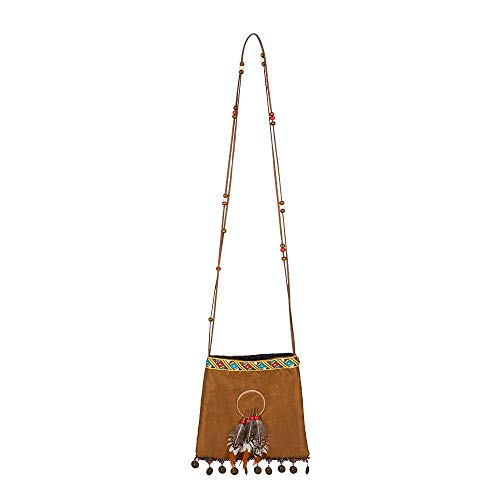 Boland 10117920 Indian Handbag, Brown, standard size from Boland