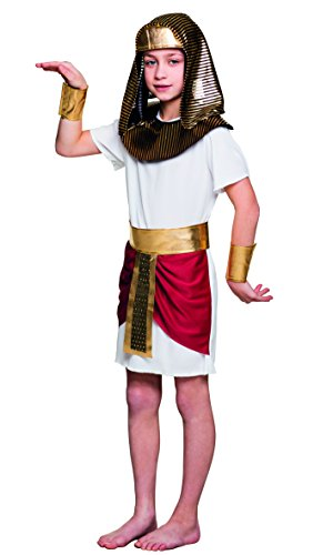 Boland 10117440 82253 Pharaoh Tutankhamun Costume Boys White/Gold 7-9 Years, Unisex from Boland
