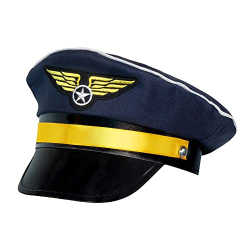 BOLAND BV 01253 Airline Pilot Captain Crew Hat/ Cap Fancy Dress Accessory Nazy Blue from Boland