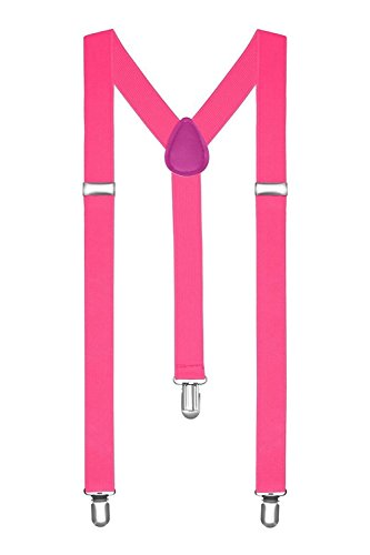 Braces/Suspenders One Size Fully Adjustable Y Shaped With Strong Clips from BOOLAVARD