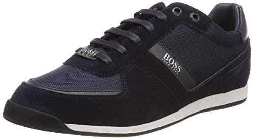BOSS Men's Maze_Lowp_mx Low-Top Sneakers, Dark Blue 401 7 UK from BOSS