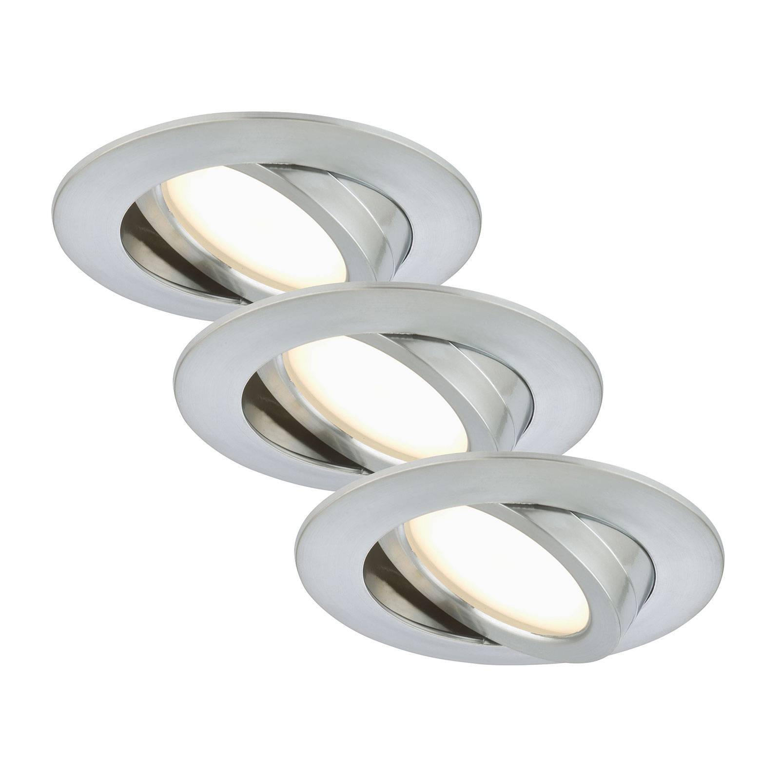 Set of three - LED recessed light Bert, pivotable from Brilonger