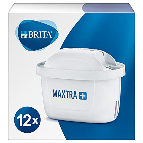 BRITA Maxtra+ Water Filter Cartridges, White, Pack of 12 (UK Version) from BRITA