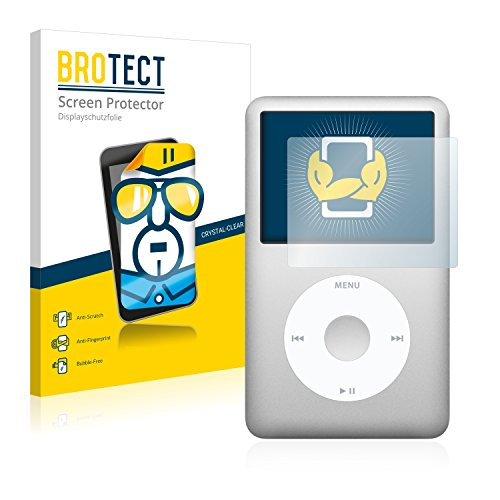 brotect 2-Pack Screen Protector compatible with Apple iPod classic 160 GB (7th generation) - HD-Clear Protection Film from brotect