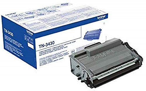 Brother TN-3430 Toner Cartridge, Black, Single Pack, Standard Yield, includes 1 x Toner Cartridge, Brother Genuine Supplies from Brother