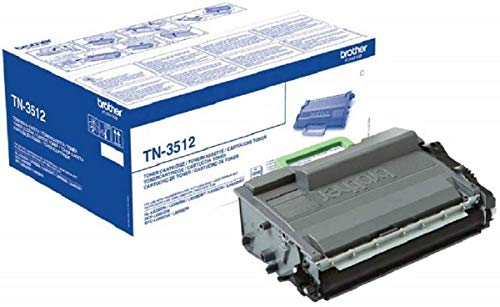 Brother TN-3512 Toner Cartridge, Black, Single Pack, Super High Yield, includes 1 x Toner Cartridge, Brother Genuine Supplies from Brother