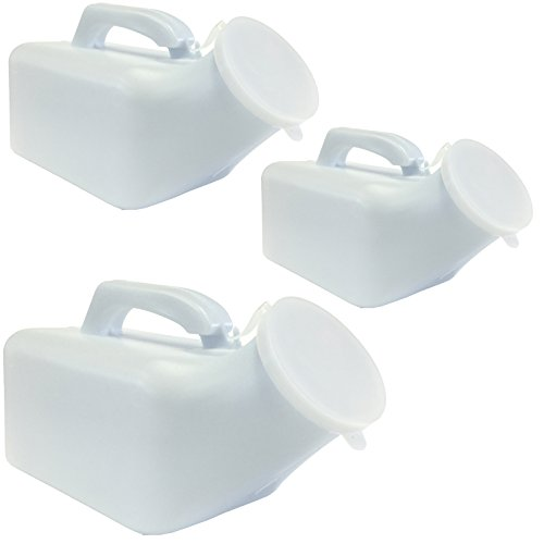 1000ml Male Mens Travel Outdoor Plastic Emergency Portable Toilet Urinal - 3 x Bottles + Lid from BST